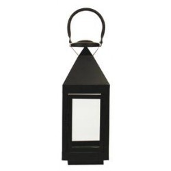 Farol metal negro mediano 400x145 mm